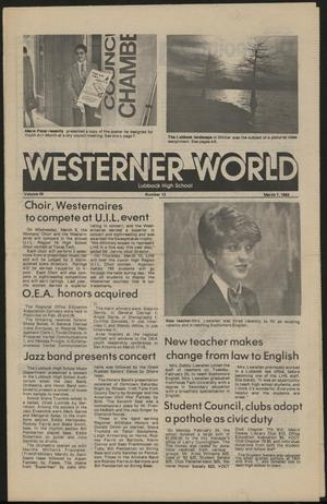 Primary view of object titled 'Westerner World (Lubbock, Tex.), Vol. 49, No. 12, Ed. 1 Monday, March 7, 1983'.
