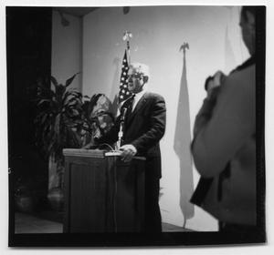 Primary view of object titled 'Texas Governor John Connally speaking at an event'.