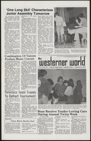 Primary view of object titled 'The Westerner World (Lubbock, Tex.), Vol. 43, No. 16, Ed. 1 Thursday, January 27, 1977'.