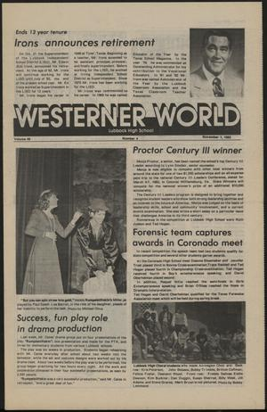 Primary view of object titled 'Westerner World (Lubbock, Tex.), Vol. 49, No. 4, Ed. 1 Tuesday, November 1, 1983'.