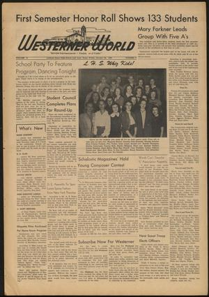Primary view of object titled 'The Westerner World (Lubbock, Tex.), Vol. 15, No. 17, Ed. 1 Friday, January 28, 1949'.