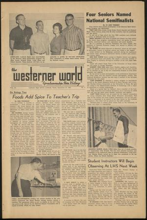 Primary view of object titled 'The Westerner World (Lubbock, Tex.), Vol. 30, No. 4, Ed. 1 Friday, September 27, 1963'.