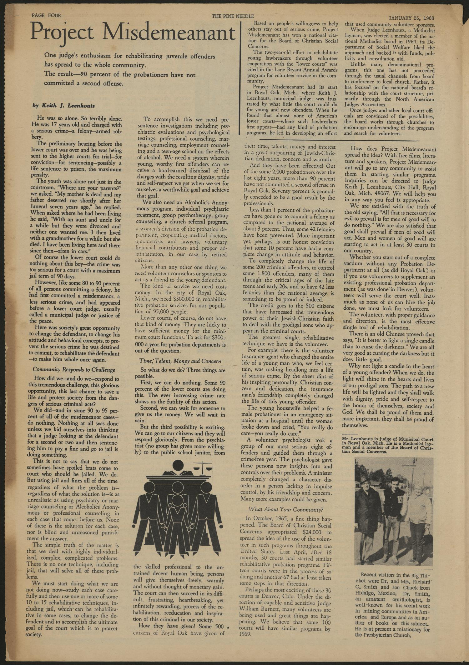 The Pine Needle (Silsbee , Tex.), Vol. 5, No. 4, Ed. 1 Thursday, January 25, 1968                                                                                                      [Sequence #]: 4 of 8
