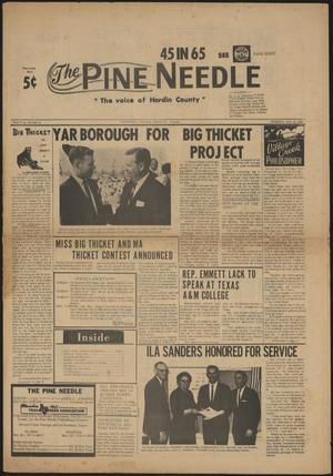 Primary view of object titled 'The Pine Needle (Kountze, Tex.), Vol. 2, No. 19, Ed. 1 Thursday, May 13, 1965'.