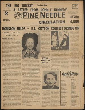 Primary view of object titled 'The Pine Needle (Kountze, Tex.), Vol. 1, No. 26, Ed. 1 Friday, July 3, 1964'.