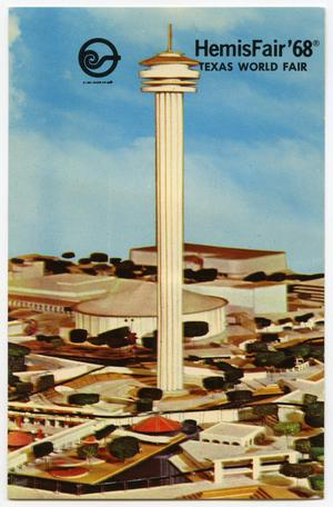 Primary view of object titled 'HemisFair '68 Texas World Fair model'.