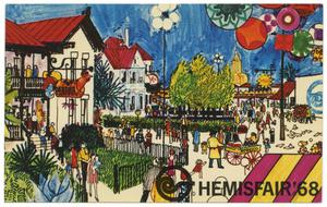 Primary view of object titled 'The International Section of HemisFair '68'.