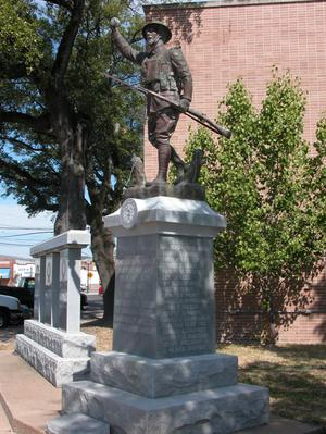 Primary view of object titled 'Angelina County WW I. Memorial'.