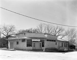 Primary view of object titled '[E.H. Treiber Grocery / Waring Post Office]'.