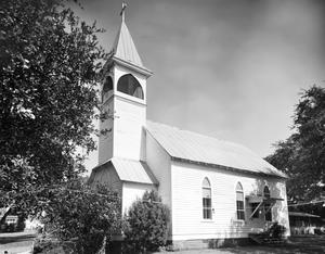 Primary view of object titled '[Immanuel Lutheran Church, (Southeast oblique)]'.