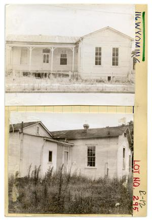 Primary view of object titled '116 Wyoming Lot No. 295-single family dwelling'.