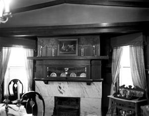 Primary view of object titled '[Warren-Crowell House, (Dining room detail)]'.