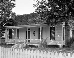 Primary view of object titled '[Little Old House, (Northeast oblique)]'.