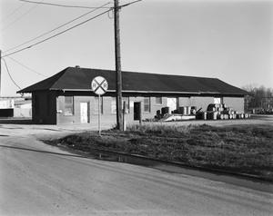 Primary view of object titled '[Interurban Railroad Station, (Northwest oblique)]'.