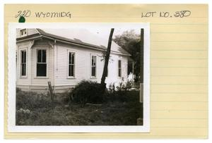 220 Wyoming Lot No. 380-single family dwelling (first 2)