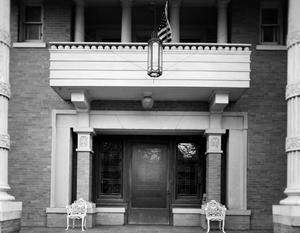 Primary view of object titled '[Warren-Crowell House, (Northeast facade detail)]'.