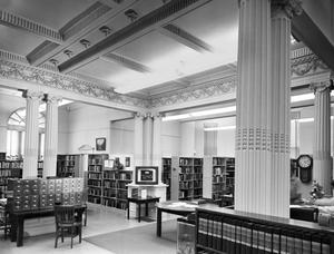 Primary view of object titled '[Andrew Carnegie Library Building, (Interior detailing)]'.