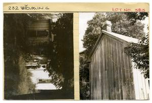 Primary view of object titled '232 Wyoming Lot No. 383-single family dwelling'.