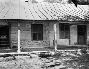 Primary view of object titled '[August Faltin House, (Porch and wall detail; East side)]'.