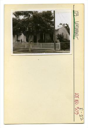 Primary view of object titled '123 Wyoming Lot No. 303-single family dwelling'.