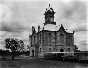 Primary view of object titled '[Irion County Courthouse, (Southeast oblique)]'.