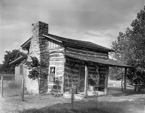 Primary view of object titled '[McIntire Cabin, (Southwest oblique)]'.