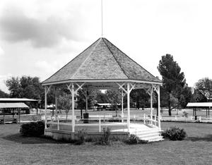 Primary view of object titled '[City Park Gazebo, (Southwest oblique)]'.