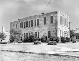 Primary view of object titled '[Comfort School, (Southeast oblique)]'.