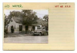 Primary view of object titled '603 Water Lot No. 223-multi-family dwelling'.