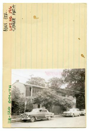 Primary view of object titled '118-120 South Lot No. 196-multi-family dwelling'.