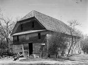 Primary view of object titled '[M.A. Joy House, Barn, (Southeast oblique)]'.