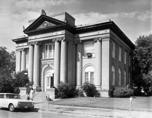 Primary view of object titled '[Andrew Carnegie Library Building, (Northeast oblique)]'.