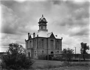 Primary view of object titled '[Irion County Courthouse, (North elevation)]'.