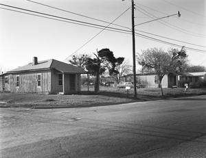 Primary view of object titled '[Shotgun Houses, (South/East elevations)]'.