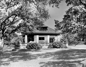 Primary view of object titled '[Vincent J. McAteer House, (East elevation)]'.