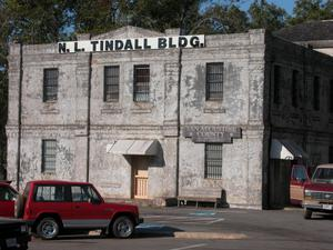 Primary view of object titled 'N. L. Tindall Building, San Augustine County Sheriff's Department'.