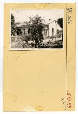 Primary view of object titled '125 Goliad Lot No. 193-single family dwelling'.