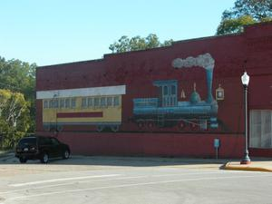 Primary view of object titled 'Texas State Railroad Mural, Rusk'.
