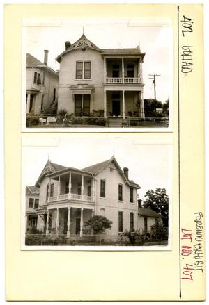 Primary view of object titled '402 Goliad Lot No. 407-multi-family dwelling'.
