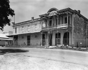 Primary view of object titled '[August Faltin Store, (Southwest oblique)]'.