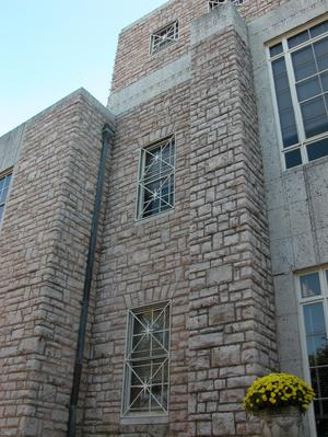 Primary view of object titled 'Cherokee County Courthouse, detail of windows'.