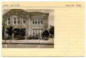 Primary view of object titled '[200 Lafitte Lot. No. 351]'.