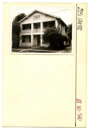 Primary view of object titled '225 Lafitte Lot No. 340-multi-family dwelling'.