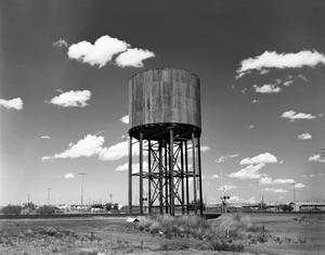Primary view of object titled '[Fort Hancock Water Tower, (Railroad easement at Knox)]'.