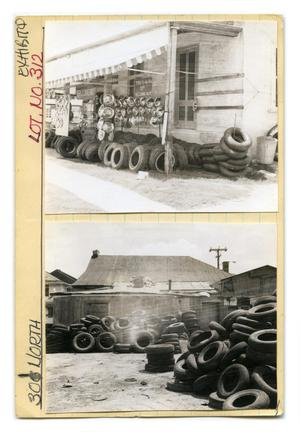 Primary view of object titled '301 North Lot No. 312- Garcia's Tire Shop close-up'.