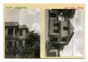 Primary view of object titled '300 North Lot no. 313 - 2 story house/business'.