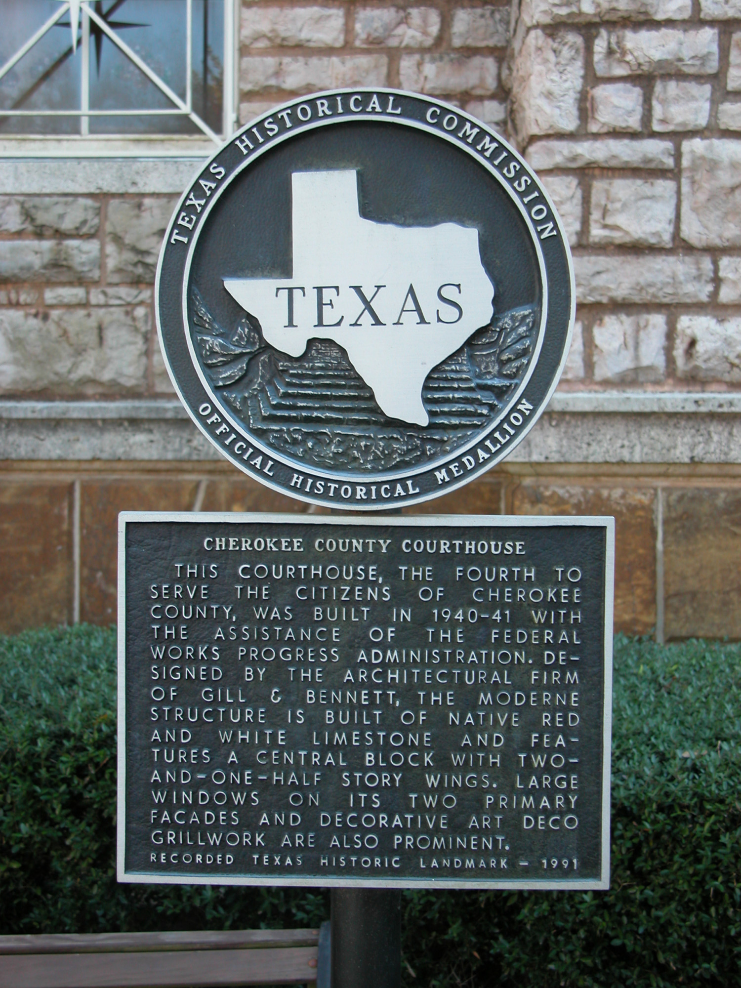 Historic Plaque, Cherokee County Courthouse                                                                                                      [Sequence #]: 1 of 1