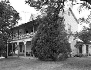 Primary view of object titled '[August Staffel House (Adler Home), (Southwest oblique)]'.