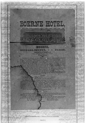 Primary view of object titled '[Kendall Inn, (1880's Bill of Fare)]'.