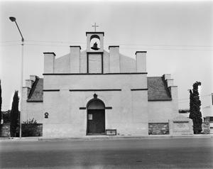 Primary view of object titled '[Fort Stockton Catholic Church (1875), (West elevation)]'.
